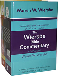 WIERSBE BIBLE COMMENTARY -2 VOL. SET
